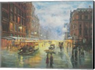 Rainy Night - Collins St. Melbourne Fine-Art Print
