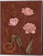 Tulips With Scroll 1 Fine-Art Print