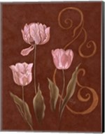Tulips With Scroll 2 Fine-Art Print