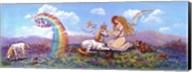 Princess And Unicorn Border Fine-Art Print