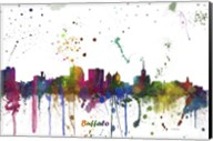 Buffalo New York Skyline Multi Colored 1 Fine-Art Print