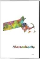 Massachusetts State Map 1 Fine-Art Print