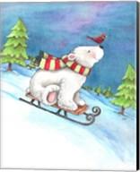 Polar Bear and Sled Fine-Art Print