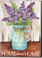 Lilacs Home Sweet Home Jar Fine-Art Print