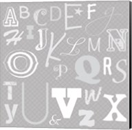 Kids Alphabet Gray Fine-Art Print