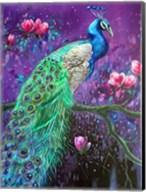 Botanical Peacock 1 Fine-Art Print