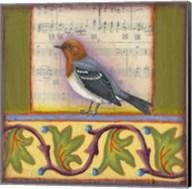 Bird on Musical Notes 1 Fine-Art Print