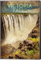 Vintage Victoria Falls, Livingstone, Africa Fine-Art Print