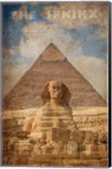 Vintage Great Sphinx of Giza, Pyramids, Egypt, Africa Fine-Art Print