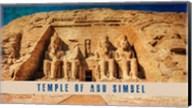 Vintage Temple of Abu Simbel, Nubia, Egypt, Africa Fine-Art Print