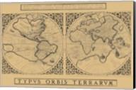 Mercator's World Map, 1524 Fine-Art Print