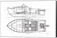 Boat Blueprint 2 Fine-Art Print