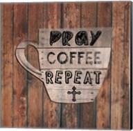 Pray Coffee Repeat Fine-Art Print