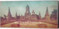 Vintage Wat Chaiwatthanaram, Thailand, Asia Fine-Art Print