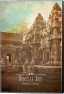 Vintage Banteay Srei, Cambodia, Asia Fine-Art Print