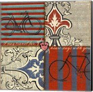 Bicycle Damask Fine-Art Print