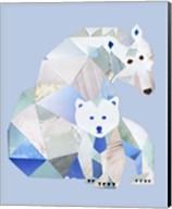Polar Bears Gray Fine-Art Print