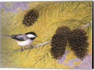 Chickadee in the Pines I Fine-Art Print