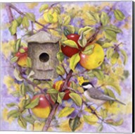 Chickadee & Apples Fine-Art Print
