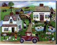 Country Folk Art Tag Sale Fine-Art Print