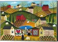 Country Garden Folk Art Quilts Fine-Art Print