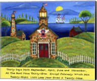 School Lighthouse Lang Fine-Art Print