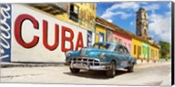 Vintage Car and Mural, Cuba Fine-Art Print