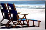 Beach Chairs, Umbrella, Ship Island, Mississippi Fine-Art Print