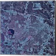 Satellite view of Jackson, Mississippi Fine-Art Print