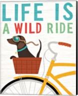 Beach Bums Dachshund Bicycle I Life Fine-Art Print