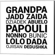 Grandpa Various Languages Fine-Art Print