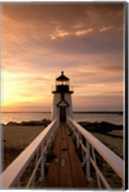 Brant Point lighthouse at Dusk, Nantucket Fine-Art Print