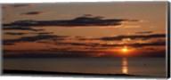 Sunset over the ocean, Jetties Beach, Nantucket, Massachusetts Fine-Art Print