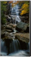 Waterfall in a forest, Arethusa Falls, Crawford Notch State Park, New Hampshire, New England Fine-Art Print
