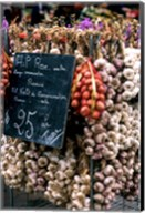 Ropes of Garlic in Local Shop, Nice, France Fine-Art Print