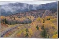 New Hampshire, White Mountains, Bretton Woods, Mount Washington Cog Railway trestle Fine-Art Print