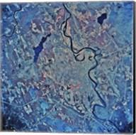 Satellite view of Concord, New Hampshire Fine-Art Print