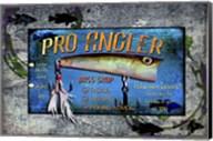 Fishing - Bass Lure Poppy Sign Fine-Art Print