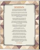 Desiderata Triangle Pattern Frame Beige Fine-Art Print
