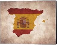 Map with Flag Overlay Spain Fine-Art Print
