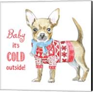 Glamour Pups Christmas I Fine-Art Print