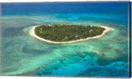 Tavarua Island and coral reef, Mamanuca Islands, Fiji Fine-Art Print