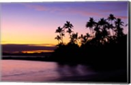 Fiji Islands, Tavarua, Palm trees and sunset Fine-Art Print