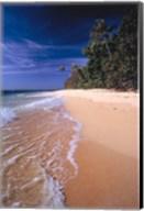 Fiji Islands, Tavarua, Surf over the sand Fine-Art Print