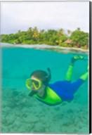 Snorkeling, Picnic island, Viti Levu Fiji Fine-Art Print