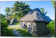 Local thatched hut, Yasawa, Fiji, South Pacific Fine-Art Print