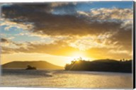 Sunset over the beach, Nacula Island, Yasawa, Fiji Fine-Art Print