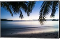 Sunset over the beach, Naviti, Yasawa, Fiji, South Pacific Fine-Art Print