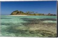 The turquoise waters of the blue lagoon, Yasawa, Fiji, South Pacific Fine-Art Print