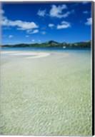 Turquoise water at the Nanuya Lailai island, the blue lagoon, Yasawa, Fiji, South Pacific Fine-Art Print